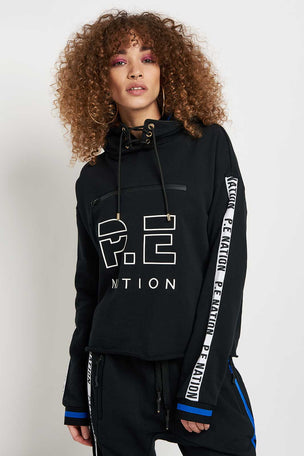 PE Nation The Blind Pass Hoodie Black image 1 - The Sports Edit
