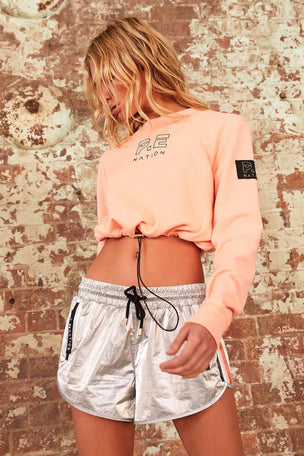 PE Nation Replay Sweat - Pop Peach image 5 - The Sports Edit