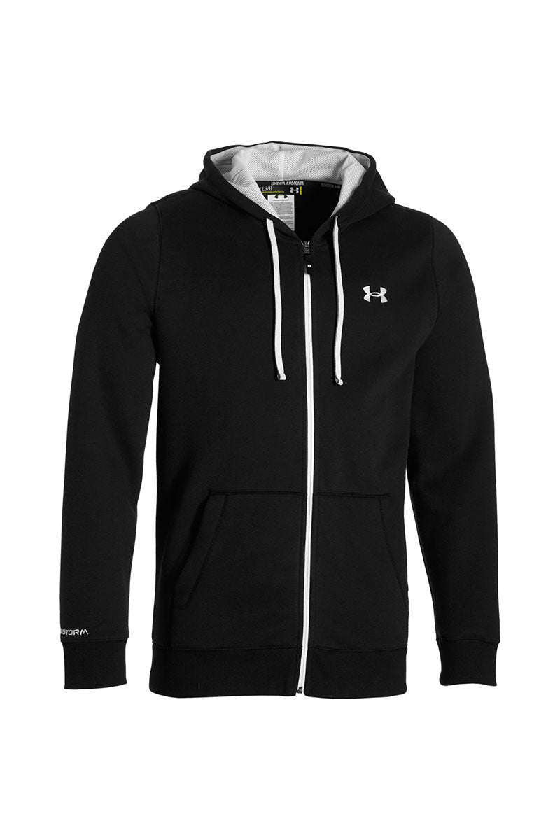 Under Armour CC Storm Rival Full Zip Hoodie - Black image 5 - The Sports Edit