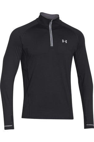 Under Armour UA Launch Zip-Up Long Sleeve Top - Black/Graphite image 1 - The Sports Edit