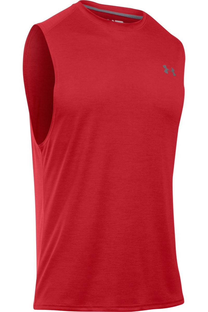 Under Armour UA Tech Muscle Tank RED image 5 - The Sports Edit
