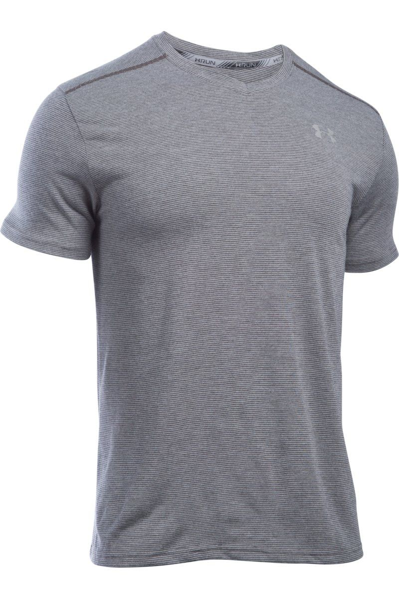 Under Armour UA Streaker V Neck Carbon Heather image 1 - The Sports Edit