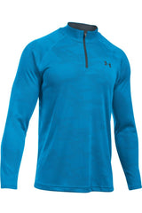 Under Armour UA Tech Jacquard 1/4 Zip BLUE image 5 - The Sports Edit