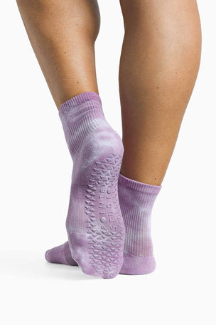 Pointe Studio Dominique Ankle Grip Sock - Mauve image 2 - The Sports Edit