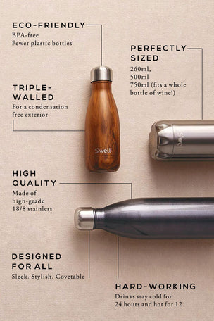 S'Well Black Marble Water Bottle | 500ml image 3 - The Sports Edit