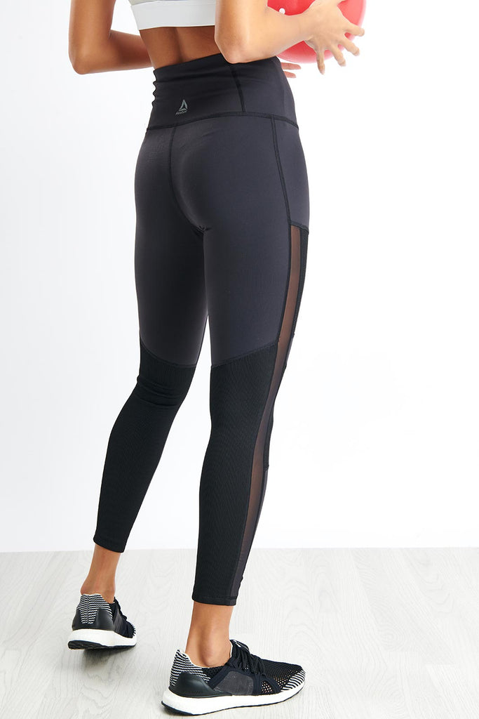 a3d48cd7 Reebok Cardio Lux High-Rise Tights - Black image 3 - The Sports Edit