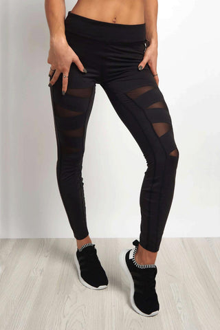 Reebok Cardio Pinnacle Legging - Black image 1 - The Sports Edit
