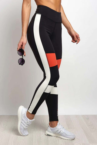Reebok SPEEDWICK Colour Block Tight Black image 1 - The Sports Edit