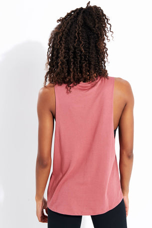 Reebok Graphic Series Moto Reebok Muscle Tank Top - Rose Dust image 3 - The Sports Edit