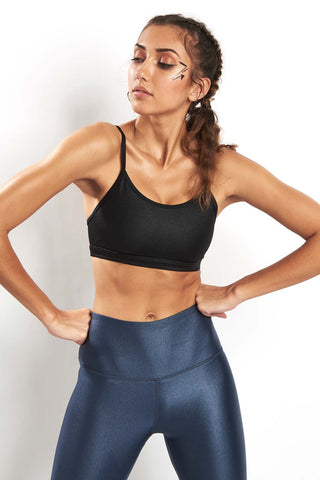 Reebok Hero Rebel Bra - Metallic Black image 1 - The Sports Edit