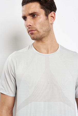 Reebok Activchill Jacquard Tee -  Skull Grey image 3 - The Sports Edit