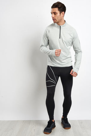 Reebok Reflective Speedwick Zip-Up Pullover - Skull Grey image 4 - The Sports Edit