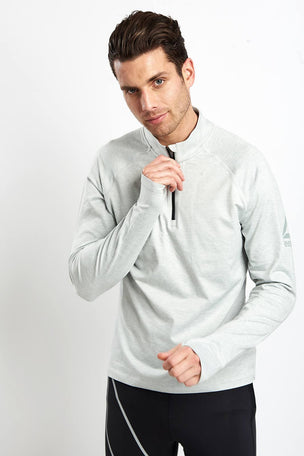 Reebok Reflective Speedwick Zip-Up Pullover - Skull Grey image 1 - The Sports Edit