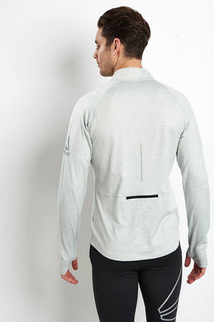 Reebok Reflective Speedwick Zip-Up Pullover - Skull Grey image 2 - The Sports Edit