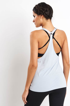 2a0ea2065ccb2c Reebok ACTIVCHILL Tank Top - Cold Grey image 1 - The Sports Edit