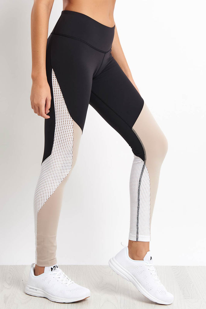 4a236fe931 Reebok Lux Colorblock Tights - Black image 1 - The Sports Edit