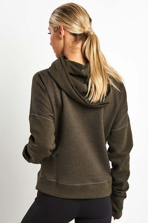 Reebok CrossFit Hoodie - Dark Cypress image 2 - The Sports Edit