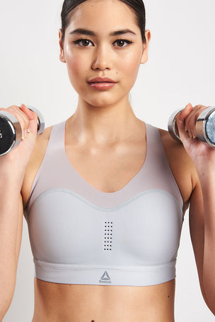 Reebok PureMove Bra - Cold Grey image 1 - The Sports Edit