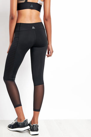 Reebok Reebok | Mesh Tights - Black image 2 - The Sports Edit