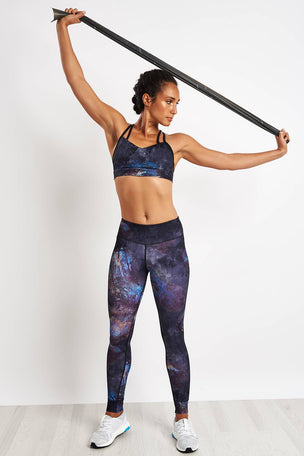 Reebok Hero Strappy Oil Slick Padded Bra - Black image 4 - The Sports Edit