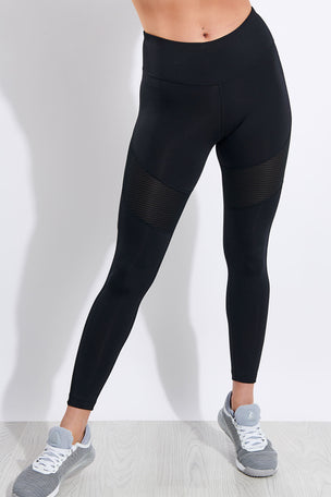 Reebok Workout Ready Mesh Tights - Black image 1 - The Sports Edit