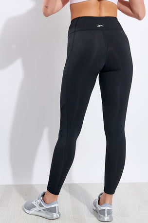 Reebok Workout Ready Mesh Tights - Black image 3 - The Sports Edit