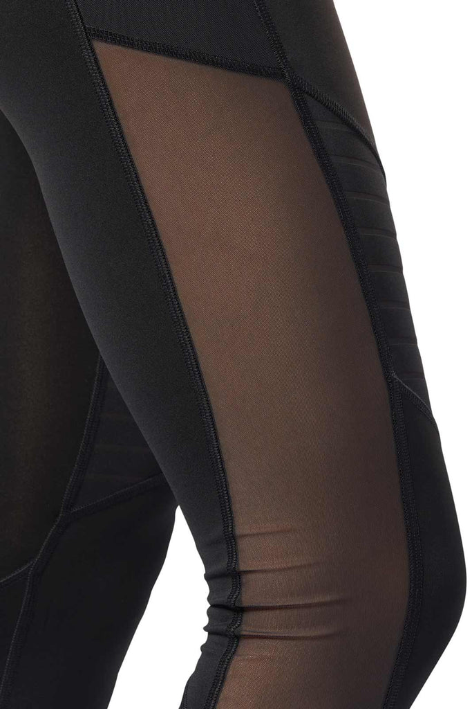 3d232b931b5619 Reebok Studio Mesh Tights - Black image 2 - The Sports Edit