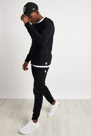 Reigning Champ Classic Crewneck Terry Sweatshirt - Black image 4 - The Sports Edit