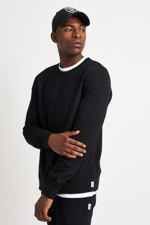 Reigning Champ Classic Crewneck Terry Sweatshirt - Black image 1 - The Sports Edit