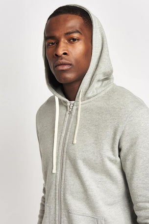 Reigning Champ Full Zip Hoodie Mid Weight Grey image 3 - The Sports Edit