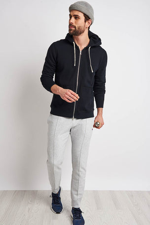 Reigning Champ Full Zip hoodie - Midweight Terry Black image 4 - The Sports Edit