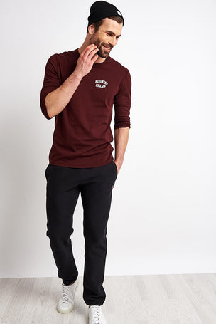 Reigning Champ 3/4 Sleeve T-shirt - Crimson image 5 - The Sports Edit