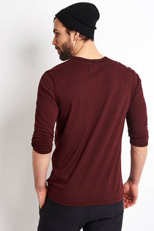 Reigning Champ 3/4 Sleeve T-shirt - Crimson image 3 - The Sports Edit
