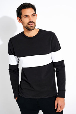Reigning Champ Rugby Crewneck - Black image 1 - The Sports Edit