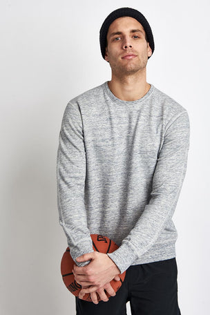 Reigning Champ Side Zip Crewneck Sweatshirt Ice image 1 - The Sports Edit