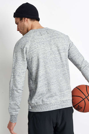 Reigning Champ Side Zip Crewneck Sweatshirt Ice image 2 - The Sports Edit