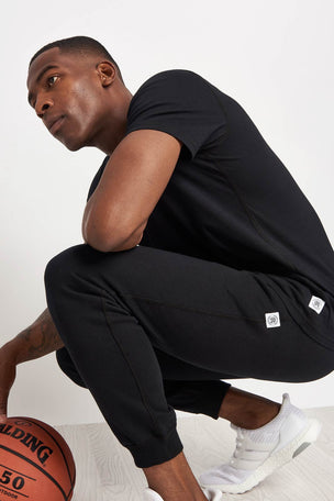 Reigning Champ Slim Sweatpant Terry Black image 3 - The Sports Edit