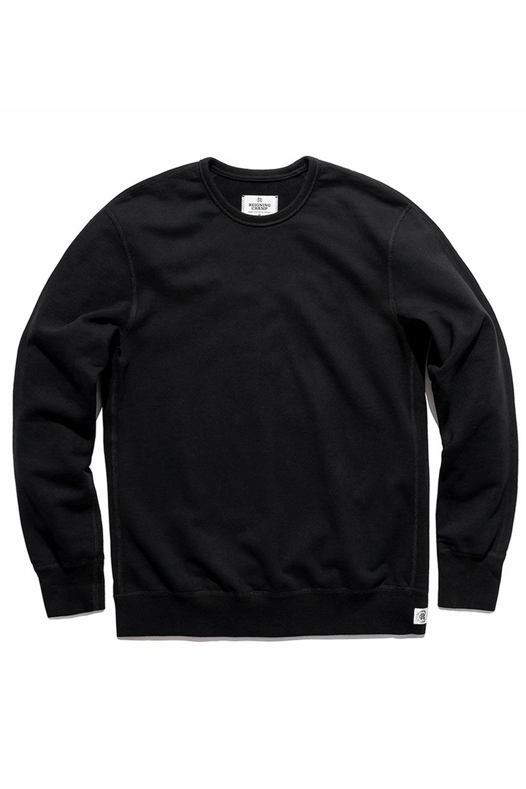 Reigning Champ Classic Crewneck Terry Black image 5 - The Sports Edit