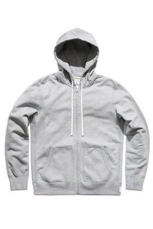 Reigning Champ Full Zip Hoodie Mid Weight Grey image 5 - The Sports Edit