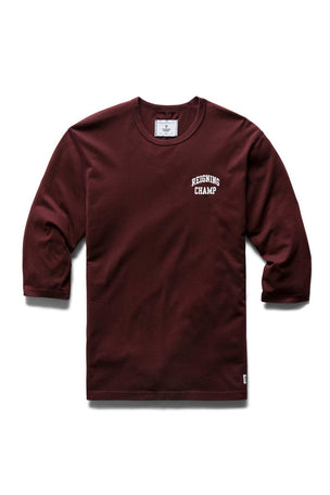 Reigning Champ 3/4 Sleeve T-shirt - Crimson image 4 - The Sports Edit