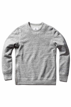 Reigning Champ Side Zip Crewneck Sweatshirt Ice image 4 - The Sports Edit