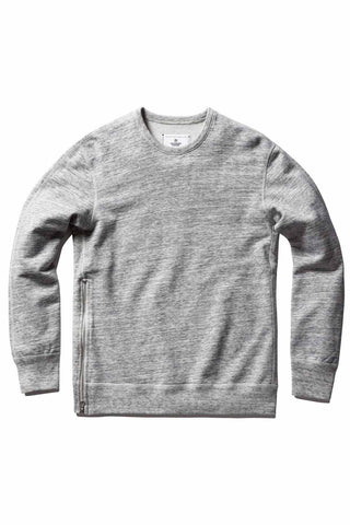Reigning Champ Side Zip Crewneck Ice image 1 - The Sports Edit