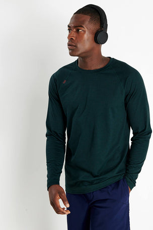 Rhone Reign Long Sleeve - Ponderosa Pine Heather image 1 - The Sports Edit