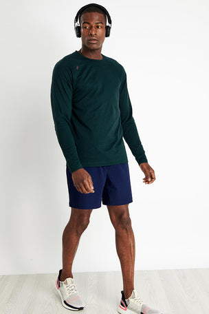 Rhone Reign Long Sleeve - Ponderosa Pine Heather image 2 - The Sports Edit