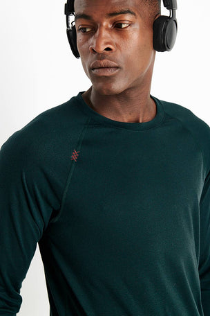 Rhone Reign Long Sleeve - Ponderosa Pine Heather image 4 - The Sports Edit
