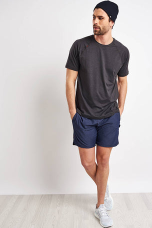 Rhone Reign Short Sleeve Tee - Black Heather image 4 - The Sports Edit