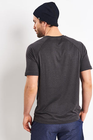 Rhone Reign Short Sleeve Tee - Black Heather image 2 - The Sports Edit