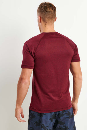 Rhone Reign Short Sleeve Tee - Zinfandel Heather image 3 - The Sports Edit