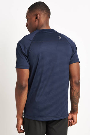 Rhone Sentry Short Sleeve T-Shirt Navy image 2 - The Sports Edit