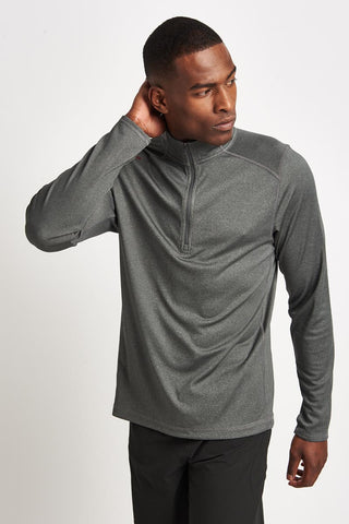 Rhone Sequoia 2.0 1/4 Zip Grey image 1 - The Sports Edit